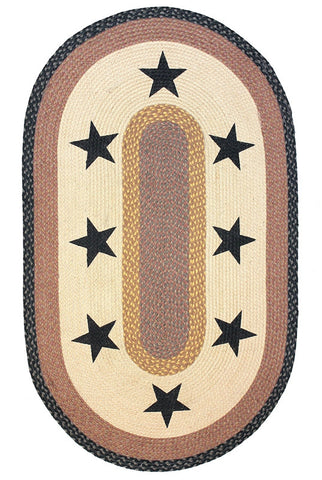 Black Star Primitive Rug