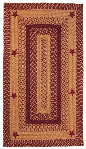 Barn Star Braided Rug