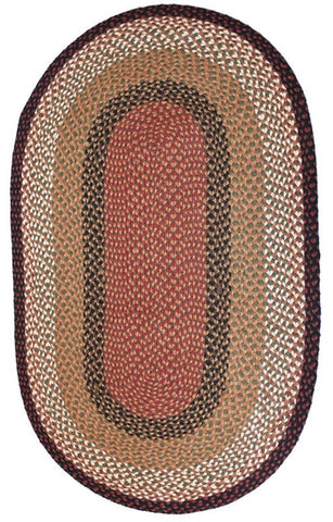 braided berry basket oval rug