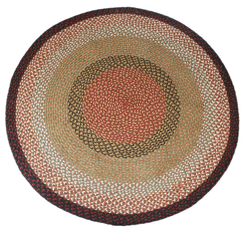 braided berry basket round rug