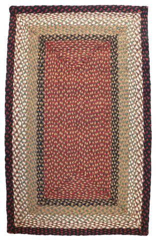 braided berry basket rectangle rug