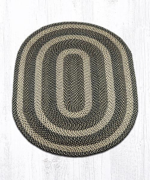 Coffee house braided rug