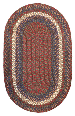Braided Rug (Country House) C-40 | Various Sizes, Oval