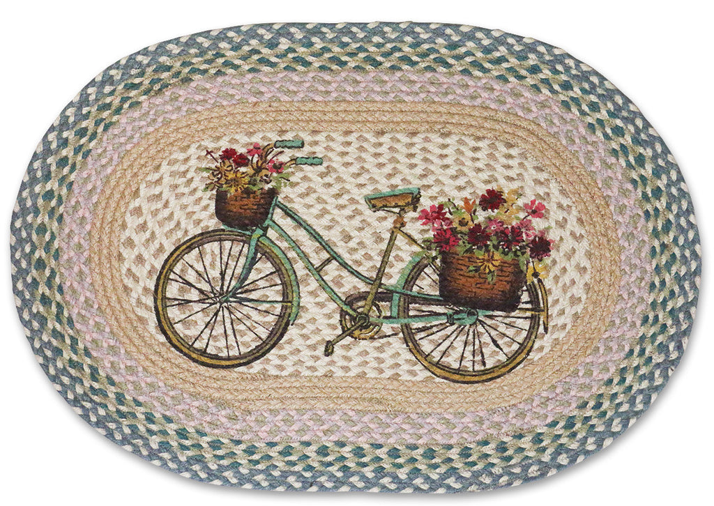 My Bicycle Braided Rug, Country