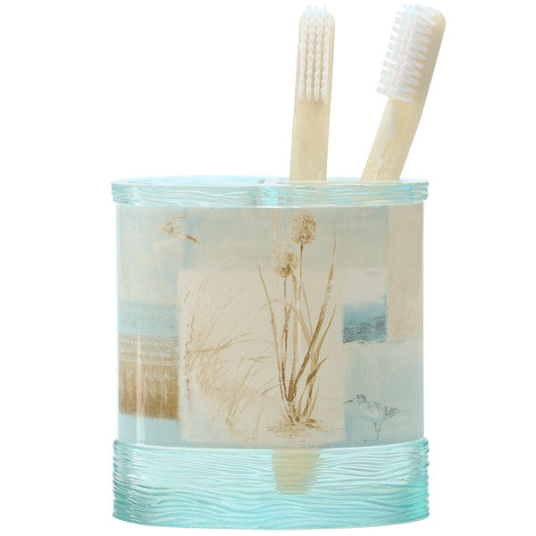 blue waters toothbrush holder
