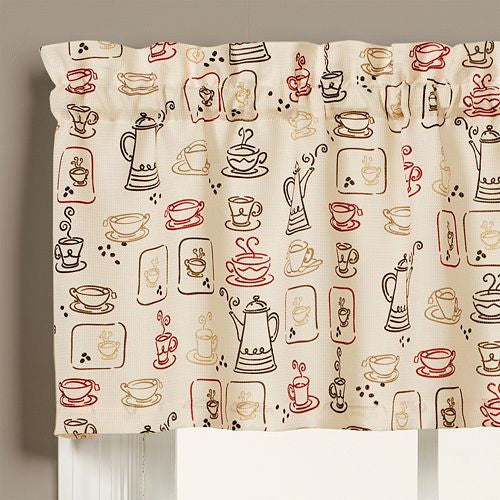 Coffee Break Window Valance