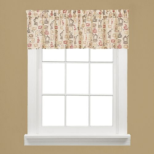 Coffee Decor Window Curtain