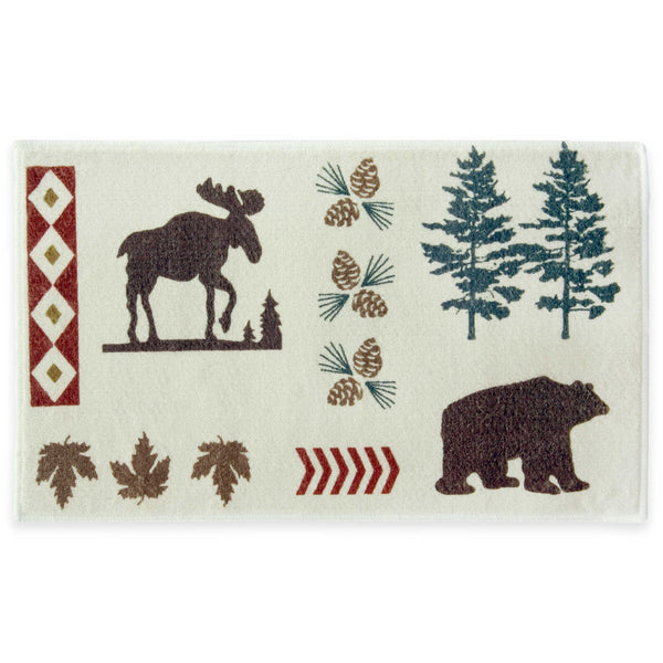 moose and bear bath rug