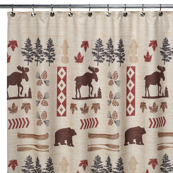 moose and bear shower curtain