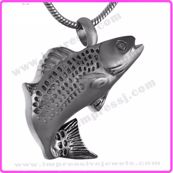Fish cremation urn pendant necklace urninvestmentshop fish cremation urn pendant necklace mozeypictures Image collections