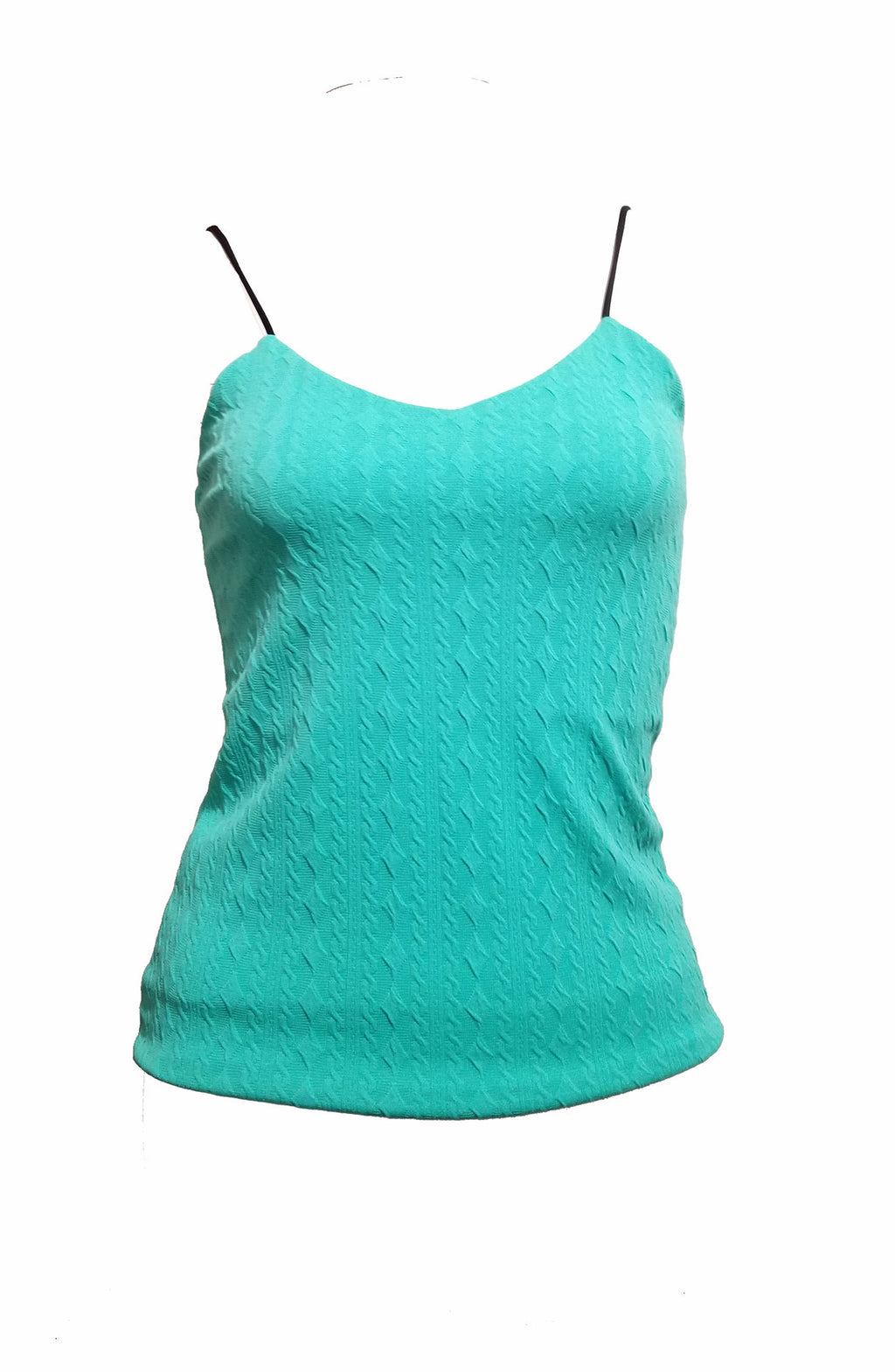 Andrea Knitted Top with Pattern (Jade)