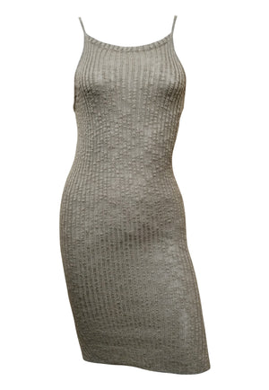 Layla Ribbed Bodycon Dress (Taupe)