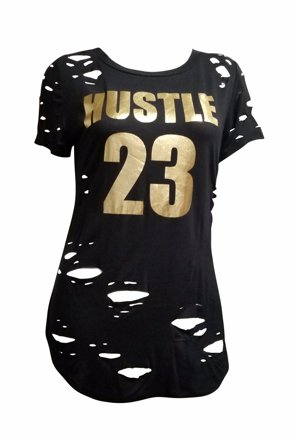 Hustle Distress T-Shirt (Black)