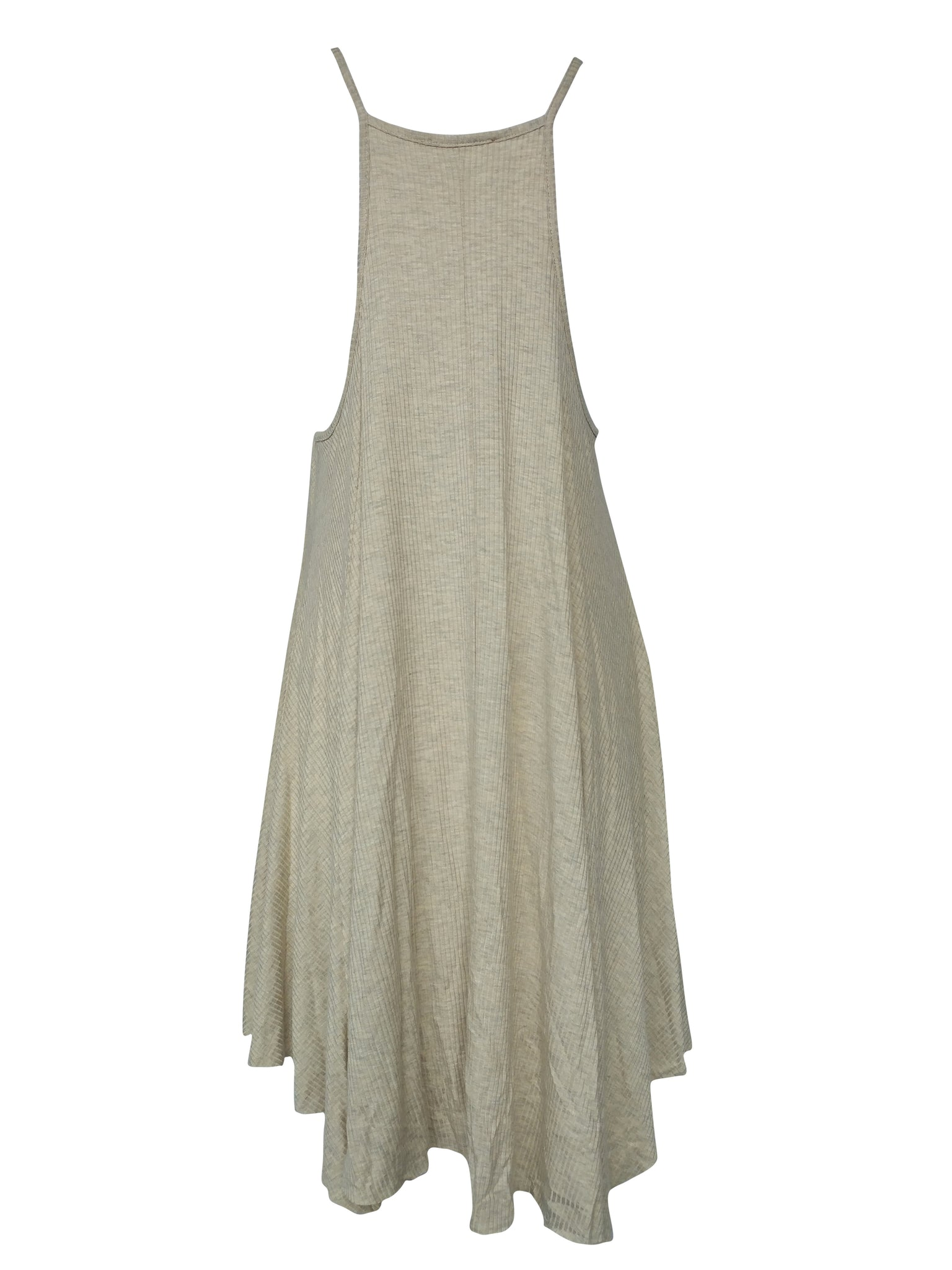 Harper Slip On Dress with Mesh Detail (Tan)