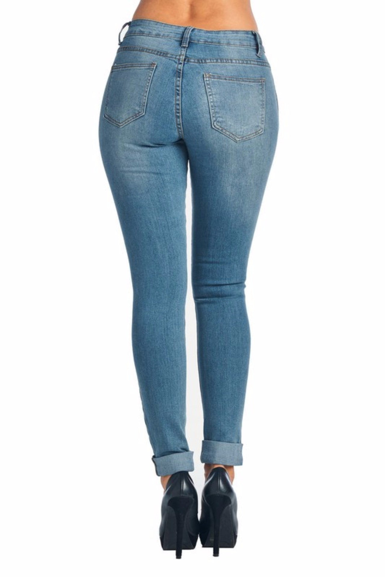 Thea Distressed Skinny Jeans
