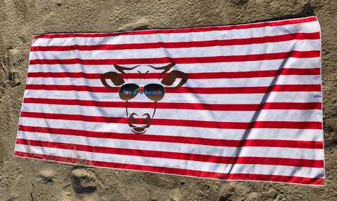 Red Stripes Son of a Beach Sand Free Beach Towel
