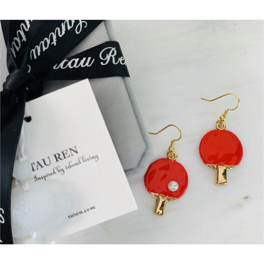 Spoil Me Jewellery - Les Petites Chinoiseries - 24K Gold Plated Ping Pong Earrings
