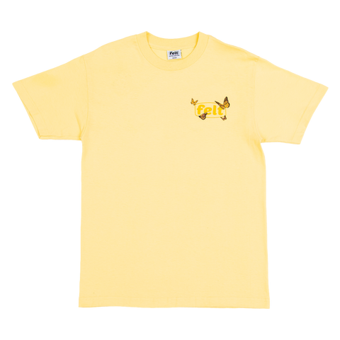 Butterfly Work T-Shirt - Yellow