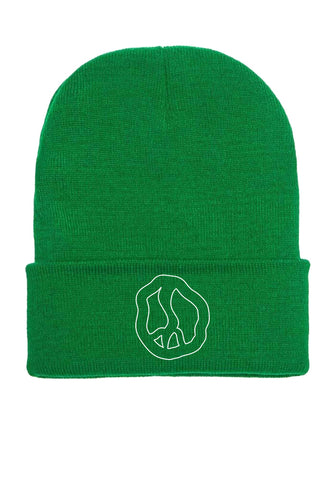 Still Movin Peace Beanie - Kelly Green