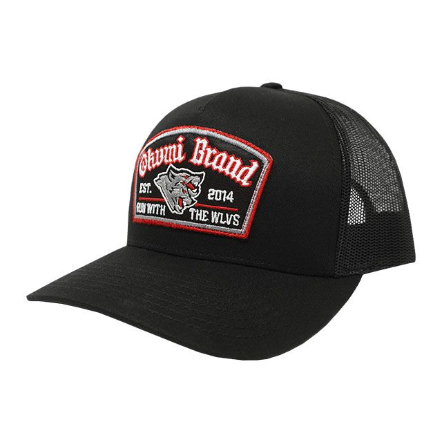 Run with the WLVS Trucker - Black/Red