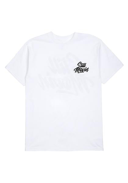 Still Movin Stacked Logo T-Shirt - White