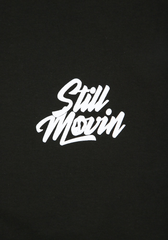 Still Movin Stacked Logo T-Shirt - Black