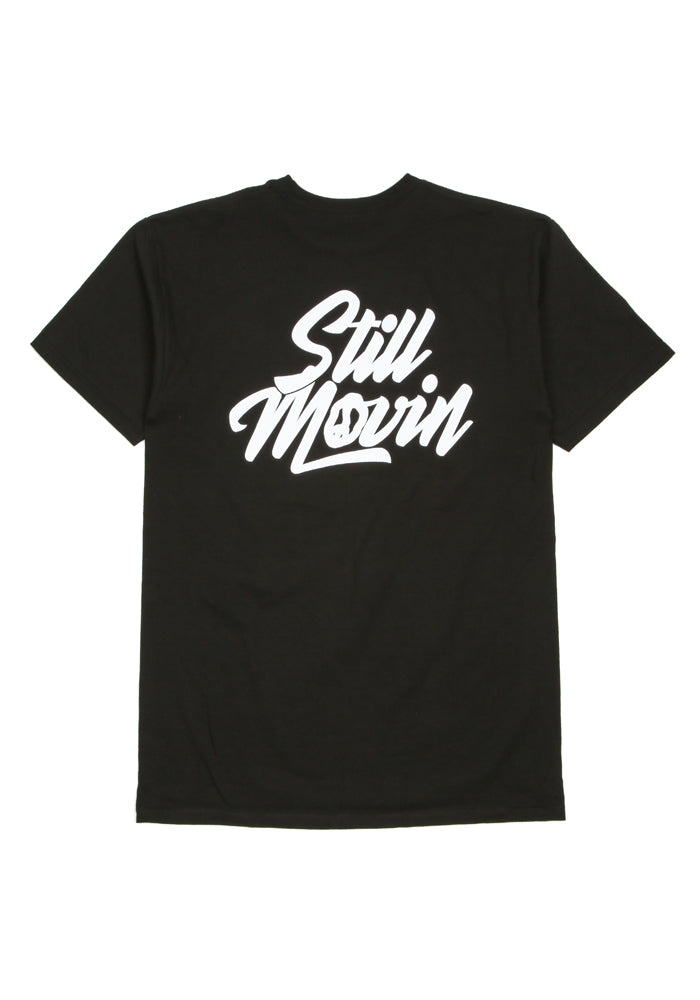 Still Movin Stacked Logo Tee - Black