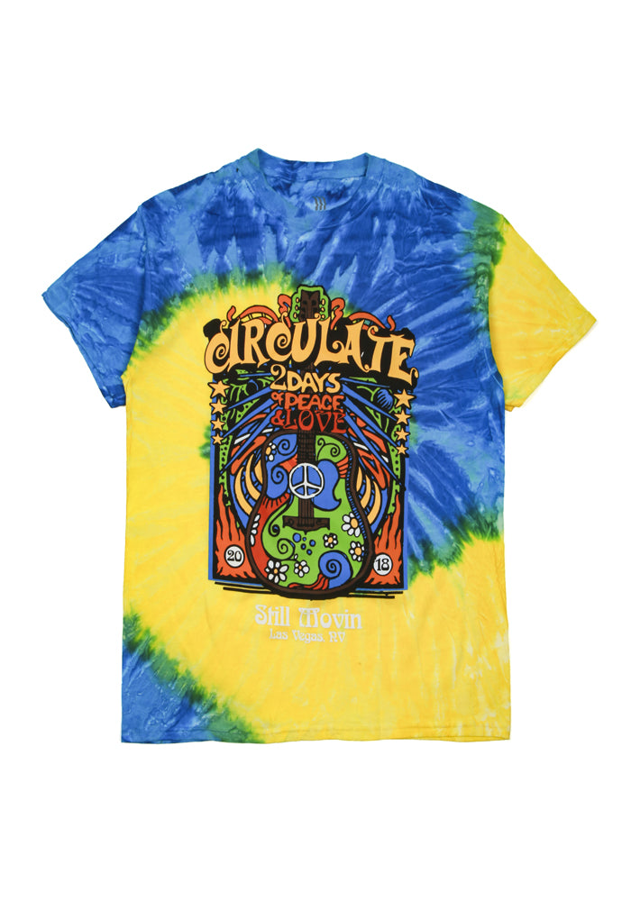 Circulate x Still Movin Festival Tee - Tie Dye Yellow