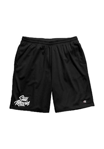 Still Movin Champion Mesh Shorts - Black