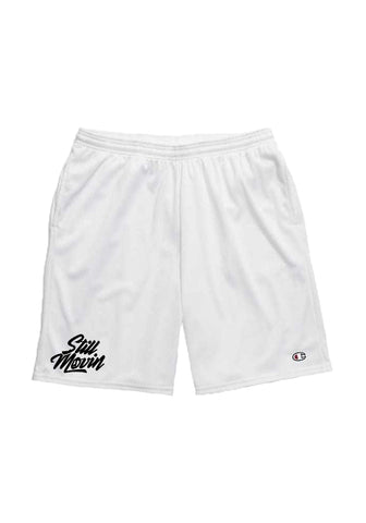 Still Movin x Champion Mesh Shorts - White