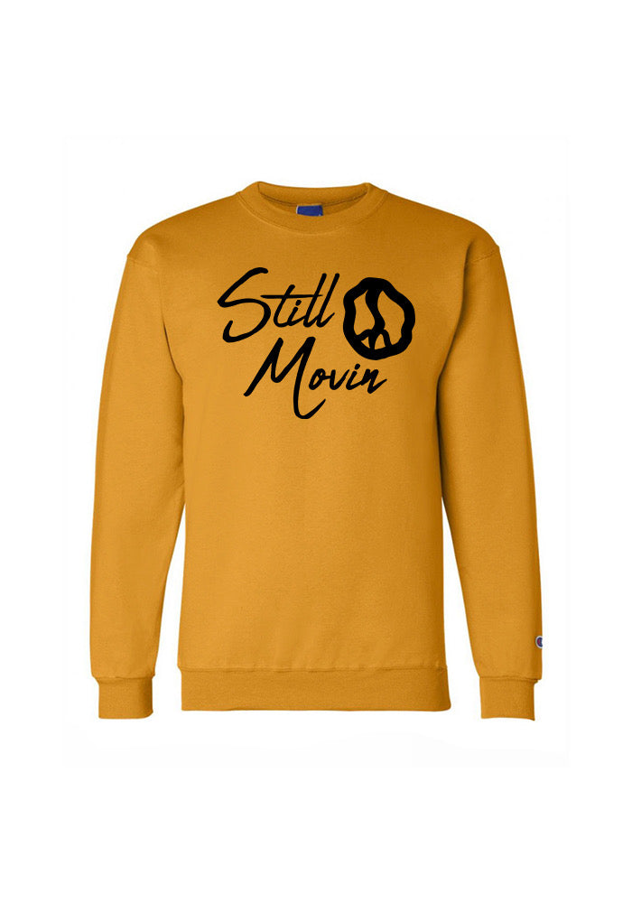 Still Movin x Champion Signature Crewneck - Gold