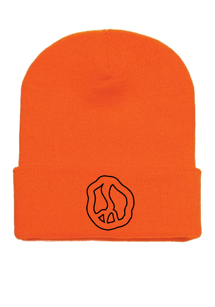 Still Movin Peace Beanie - Blaze Orange