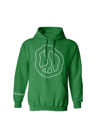 Still Movin Peace Hoodie - Kelly Green