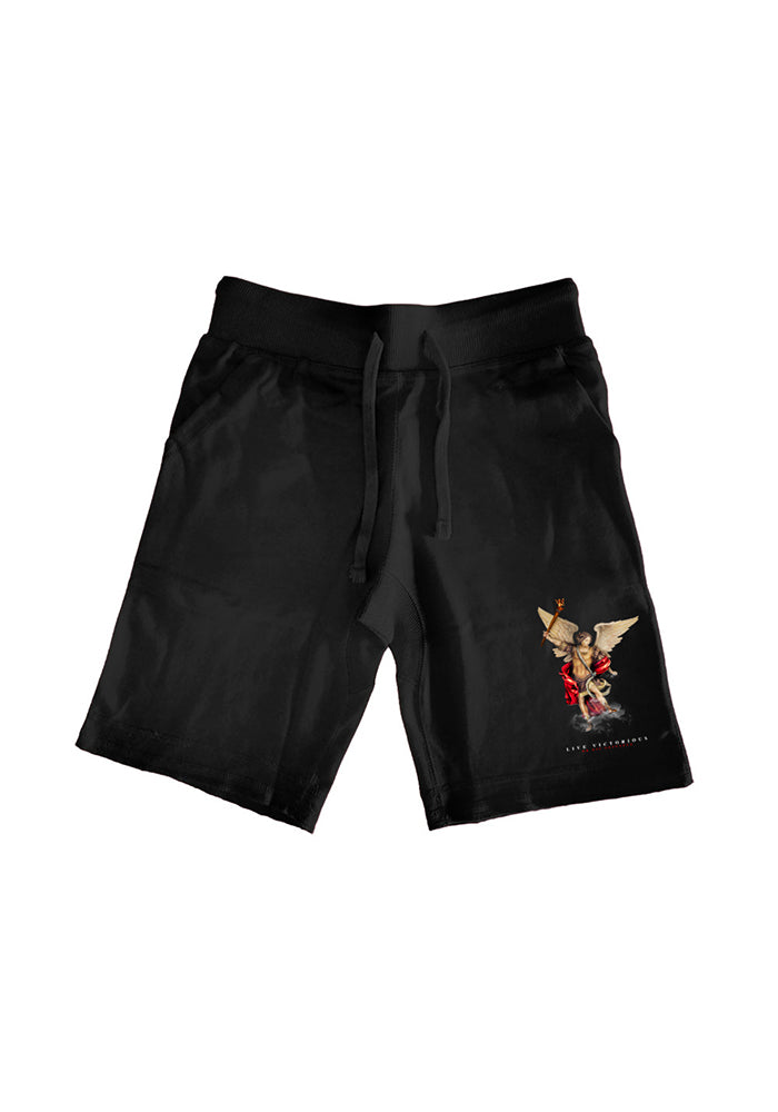 Live Victorious or Die Defeated Shorts - Black