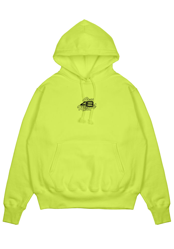 4B x Still Movin Hoodie - Neon Yellow