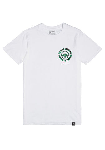 LTF x Still Movin Smoker's Crew Tee - White