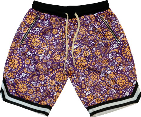 WLVS Paisley Shorts - Purple