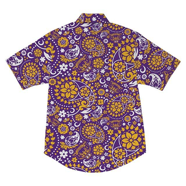 WLVS Paisely Button Up - Purple