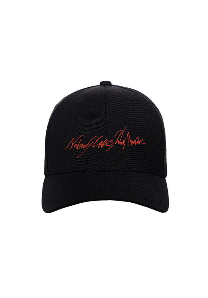 Nobody Cares Work Harder Dad Hat - Black