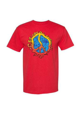 Still Movin Hippie T-Shirt - Red