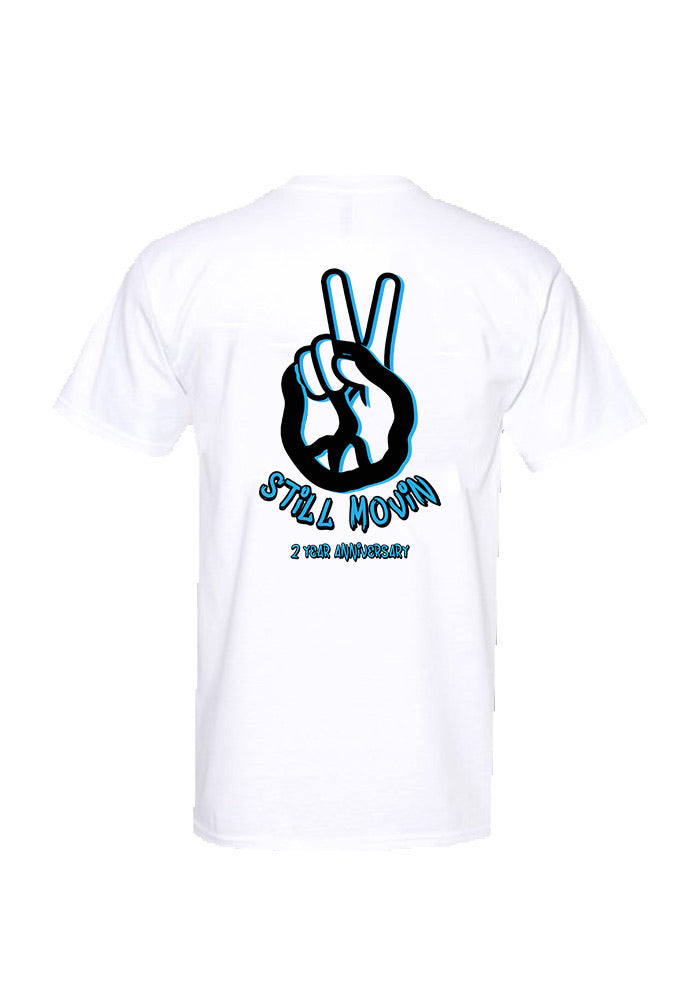 Still Movin 2 Year Anniversary T-Shirt - White