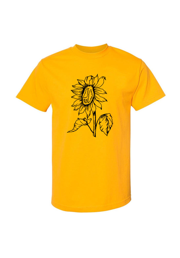 Still Movin Sunflower T-Shirt - Gold