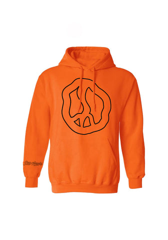 Still Movin Peace Hoodie - Blaze Orange