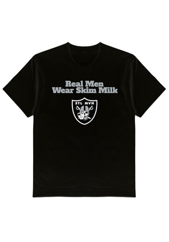 Skim Milk x Still Movin Raiders Tee - Black