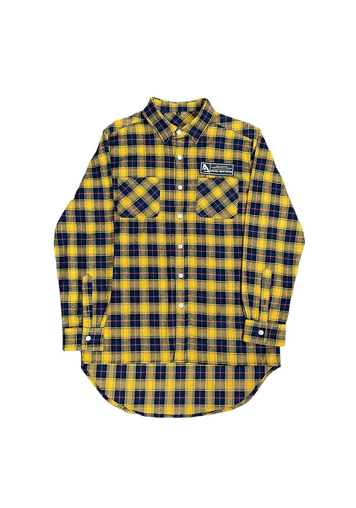 Patch Flannel - Gold/Navy