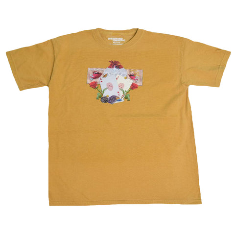 Abstract T-Shirt - Mustard