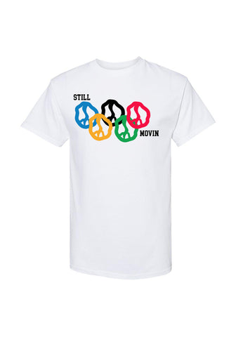 Still Movin Rings T-Shirt - White