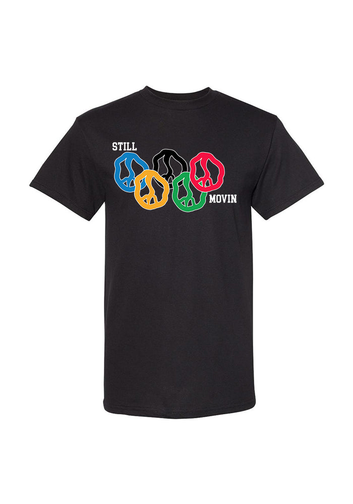 Still Movin Rings T-Shirt - Black