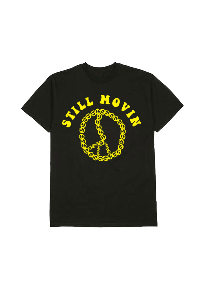 Still Movin Peace Chain T-Shirt - Black