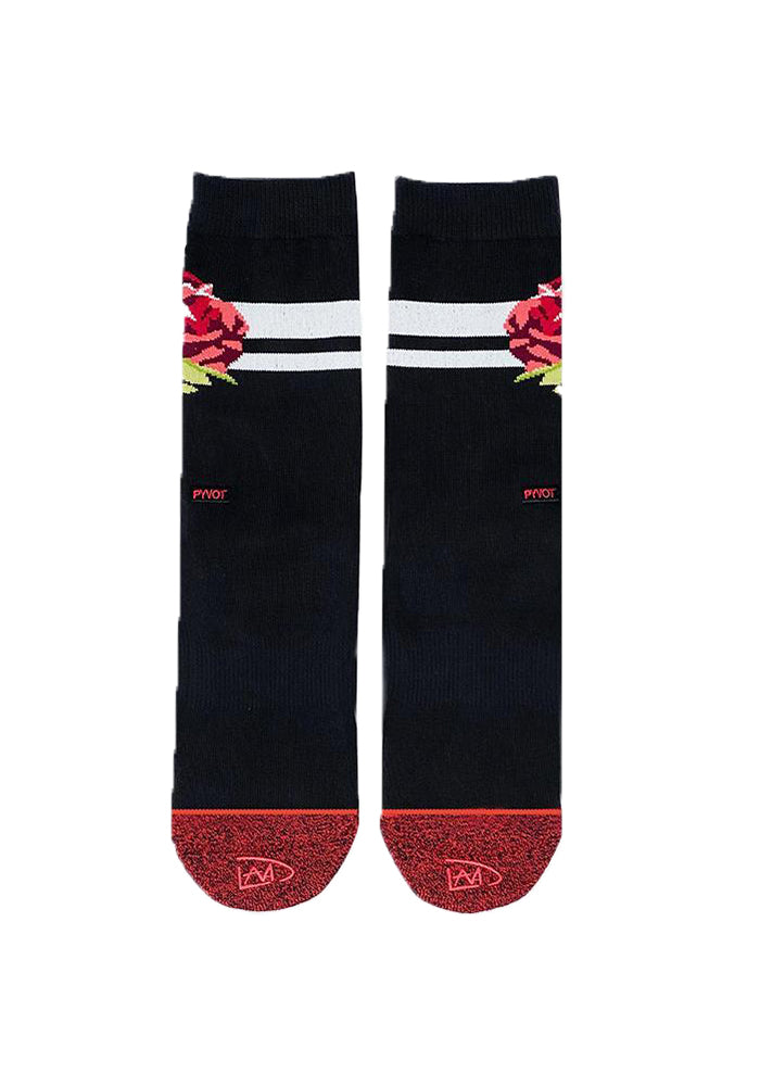 Rose Socks - Black